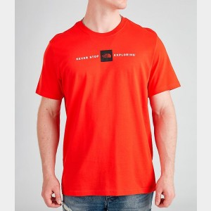 Black Friday 2021 Men's The North Face Never Stop Exploring Box T-Shirt Red Sales