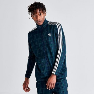 Men's adidas Originals Tartan Track Jacket Multicolor Navy Sales