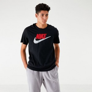 Men's Nike Sportswear Brand Mark T-Shirt Black/University Red Sales