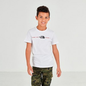 Boys' The North Face Never Stop Exploring T-Shirt White Sales