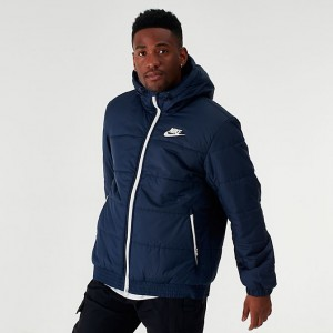 Men's Nike Sportswear Hooded Jacket Obsidian Sales