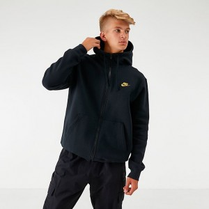 Men's Nike Sportswear Club Fleece Full-Zip Hoodie Black Sales