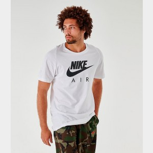 Men's Nike Sportswear Nike Air Logo T-Shirt White/Black Sales