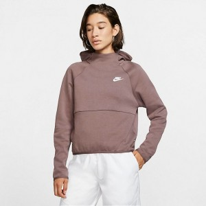 Women's Nike Sportswear Tech Fleece Hoodie Plum Eclipse/Plum Eclipse/White Sales