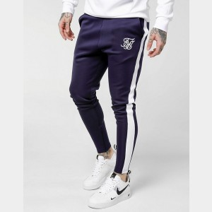 Men's SikSilk Poly Track Pants Navy Sales