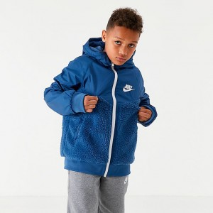 Boys' Nike Sportswear Windrunner Winter Jacket Mystic Navy/White Sales