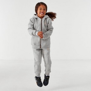 Kids' Toddler Jordan Metal Man Sherpa Full-Zip Hoodie and Jogger Pants Set Grey Heather Sales