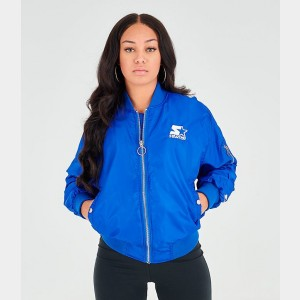Women's Starter Bomber Jacket Azure/White Sales