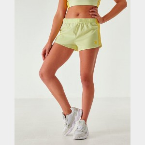Women's adidas Originals 3-Stripes Shorts Ice Yellow Sales