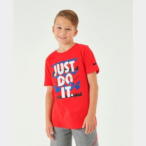 Boys' Nike Sportswear JDI T-Shirt University Red/White Sales