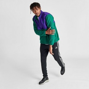 Men's adidas Originals Winterized Half-Zip Track Jacket Court Green/Court Purple Sales