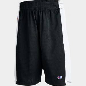 Kids' Champion Mesh Shorts Black/White Sales