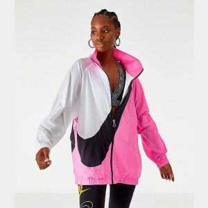 Women's Nike Sportswear Swoosh Woven Jacket China Rose Sales