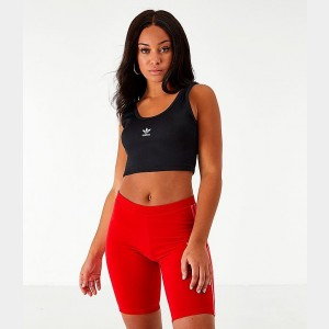Women's adidas Originals Cropped Tank Top Black Sales