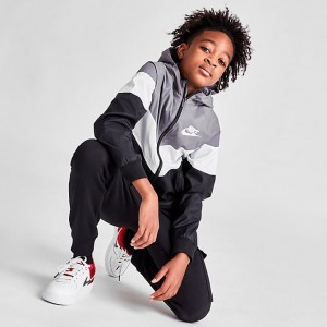 Boys' Nike Sportswear Windrunner Jacket Gunsmoke/Summit White/Black/Summit White Sales