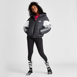 Women's adidas Originals Spirit Padded Jacket Black/White Sales