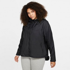 Women's Nike Sportswear Windrunner Jacket (Plus Size) Black/Black/Black Sales