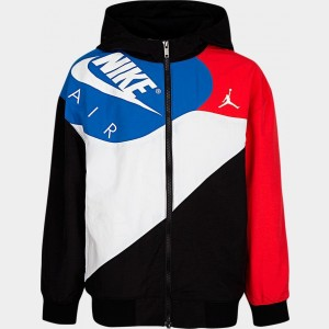Boys' Jordan AJ4 Lightweight Jacket Blue/Red/White/Black Sales