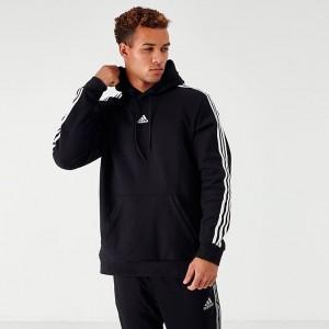 Men's adidas Badge of Sport Stripe Hoodie Black Sales