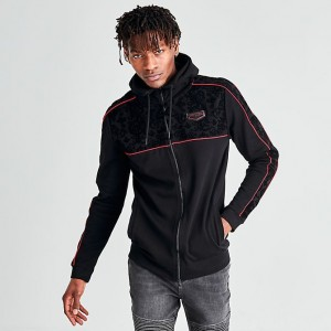 Men's Supply & Demand Velvet Pipe Full-Zip Hoodie Black Sales