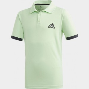 Boys' adidas New York Tennis Polo Shirt Glow Green/Carbon Sales