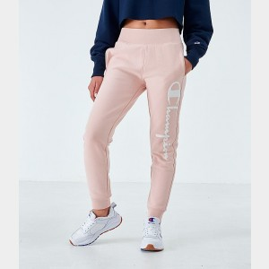 Women's Champion Reverse Weave Script Jogger Pants Spiced Almond Sales