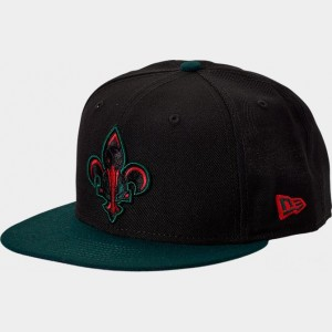 New Era New Orleans Pelicans NBA Team 9FIFTY Snapback Hat Black/Green/Red Sales
