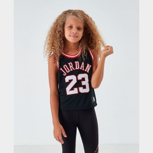 Girls' Jordan Cropped Tank Jersey Black Sales