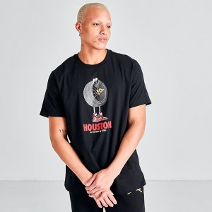 Men's Jordan Character City Houston T-Shirt Black Sales