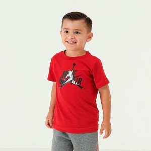 Boys' Toddler Air Jordan Mashup T-Shirt Gym Red Sales
