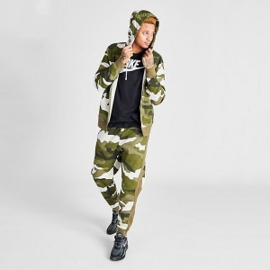 Men's Nike Sportswear Club Fleece Camo Jogger Pants Light Bone/Olive Sales