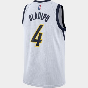 Men's Nike Indiana Pacers NBA Victor Oladipo Earned Edition Swingman Jersey White Sales