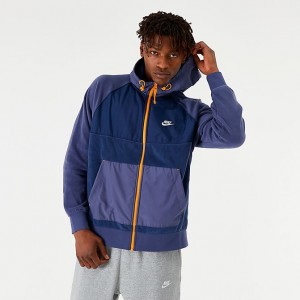 Men's Nike Sportswear Winterized Fleece Full-Zip Hoodie Midnight Navy Sales