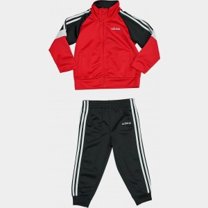 Black Friday 2021 Boys' Infant adidas Colorblock Tricot Track Jacket and Jogger Pants Set Black/Red Sales