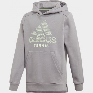 Kids' adidas Tennis Club Hoodie Grey Three Sales