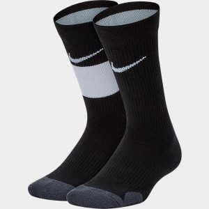 Kids' Nike Elite 2-Pack Crew Basketball Socks Black/White Sales