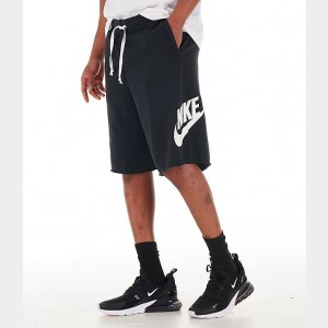 Men's Nike Sportswear Alumni Fleece Shorts Black/White Sales