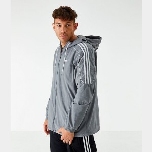 Men's adidas Originals Radkin Windbreaker Jacket Grey Sales