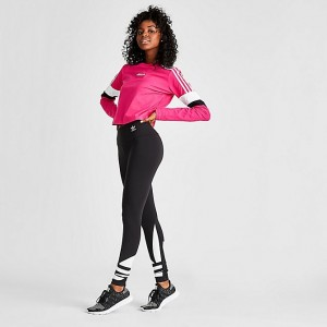 Women's adidas Originals Big Trefoil Logo Leggings Black/White Sales