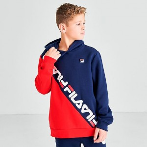 Boys' Fila Original Fitness Hoodie Fila Red Sales