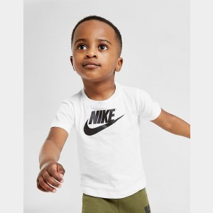 Boys' Infant Nike Futura T-Shirt White/Black Sales