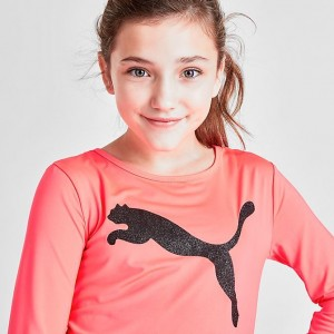 Girls' Puma Be Bold Long-Sleeve T-Shirt Tropical Pink Sales