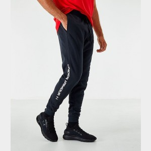 Men's Under Armour Rival Fleece Logo Jogger Pants Black/White Sales