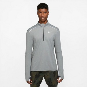 Men's Nike Element 3.0 Half-Zip Training Top Dark Smoke Grey/Heather/Fog Grey Sales