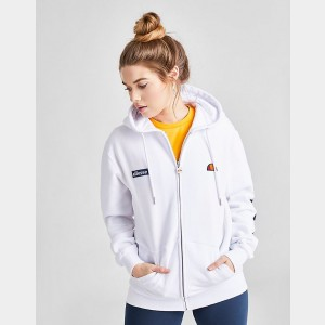 Women's Ellesse Serinatas Full-Zip Hoodie White Sales