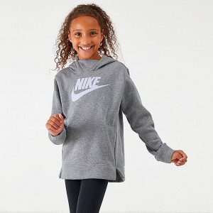 Girls' Nike Sportswear Essential Hoodie Black/Vivid Purple Sales