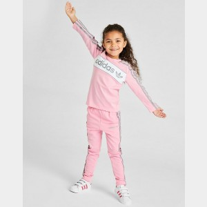 Girls' adidas Originals Solid Long-Sleeve T-Shirt Light Pink Sales