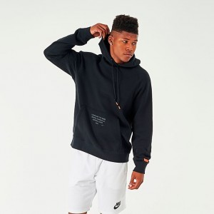 Men's Nike LeBron Basketball Hoodie Black Sales