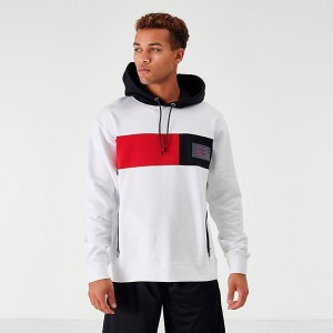 Men's Jordan Legacy AJ11 Hoodie White/Black/Red Sales