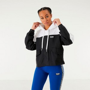 Women's adidas Originals Colorblock Windbreaker Jacket White/Black Sales